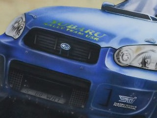 "Аэрография, роспись стен: ""Subaru Impreza STI"""