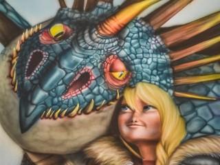 """Аэрография, роспись стен: """"Как приручить дракона"""""""