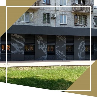 Роспись фасада для ресторана корейской кухни KIM CHI в Алматы  #myart #art #искусство #airbrush #аэрография #creative #graphic #graphics #drawing #picture #paint #painting #artwork